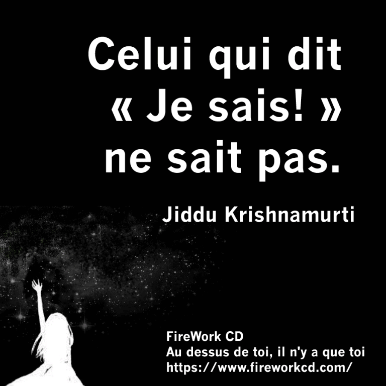 Krishnamurti Jiddu - Tu ne sais rien !