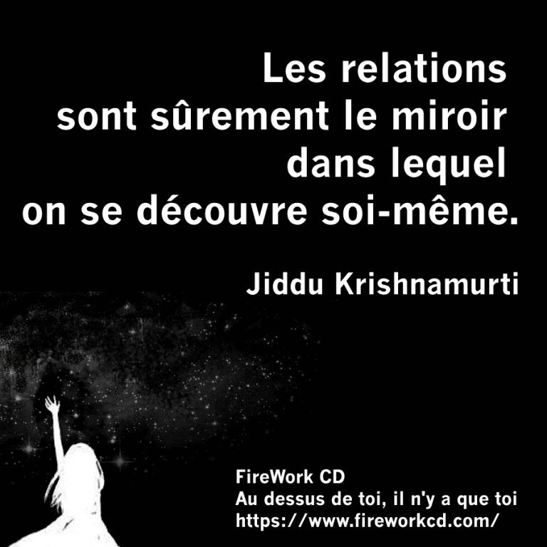 Krishnamurti - relation miroir