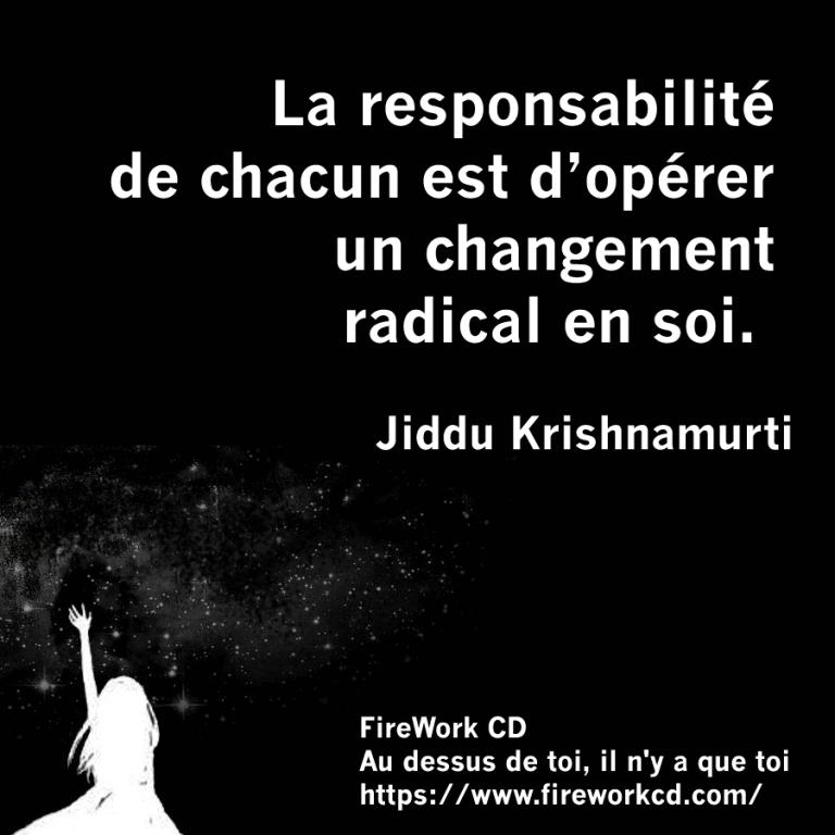 Krishnamurti et responsabilité