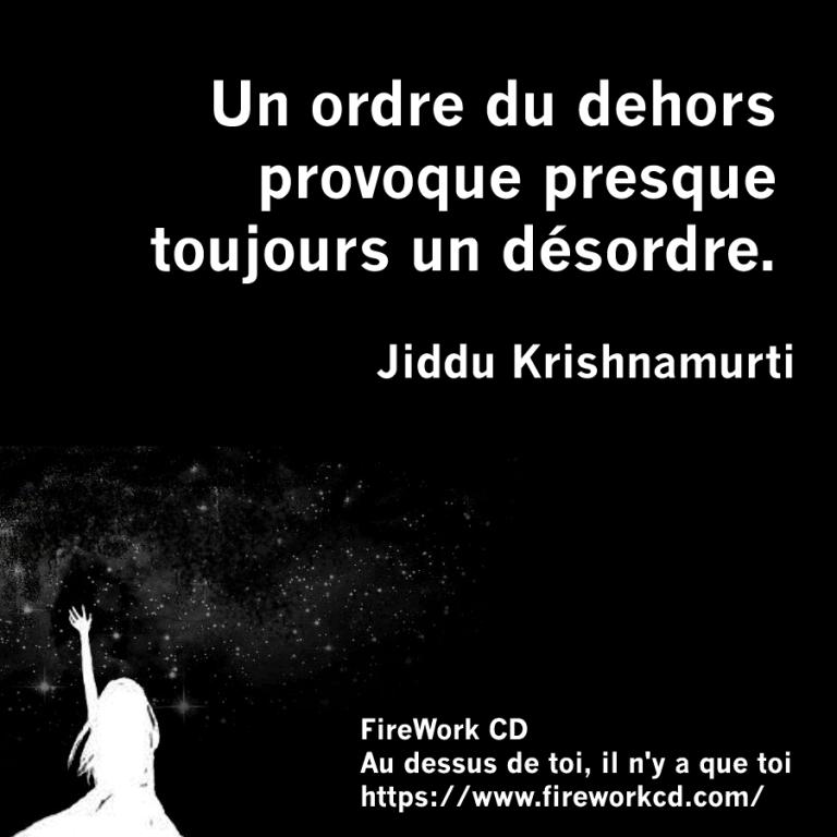 Krishnamurti - Ordre et désordre