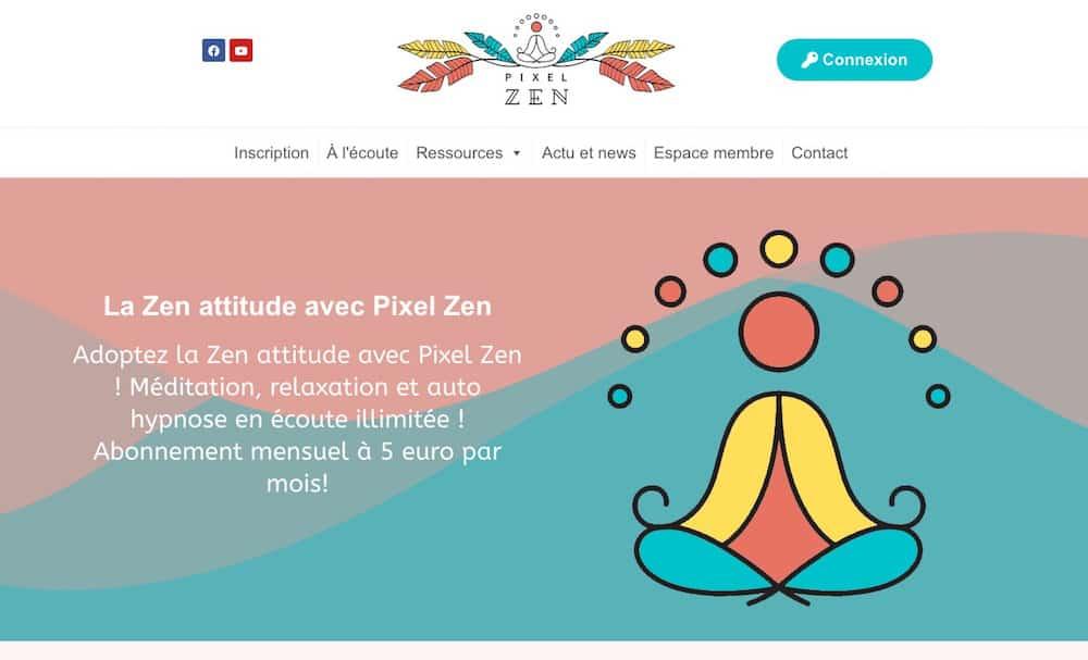 site web pixel zen